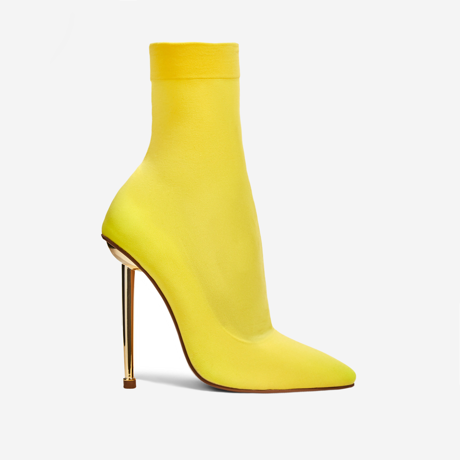 Jade Ankle Sock Boot In Yellow Knit