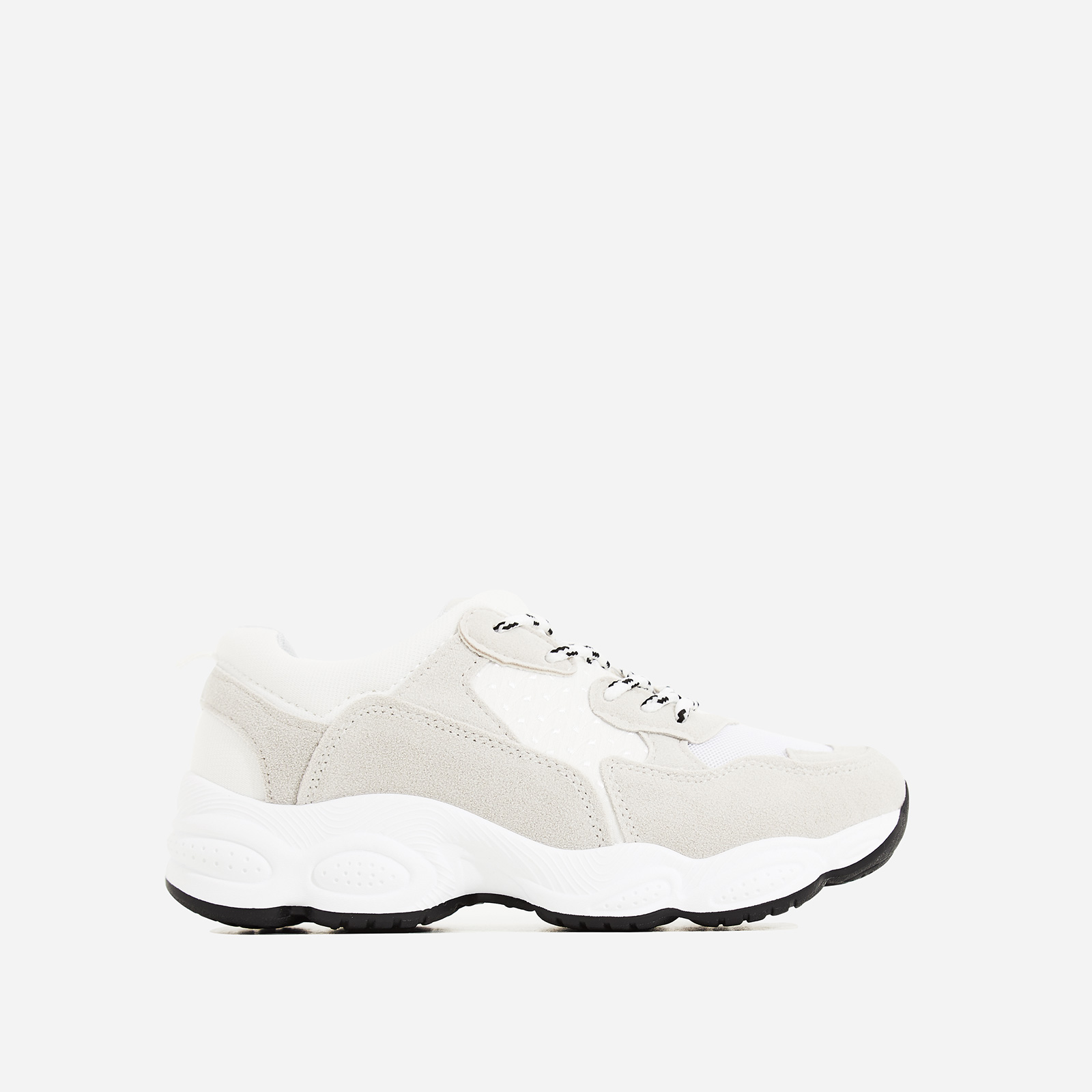 Kim Chunky Trainer In White and Grey