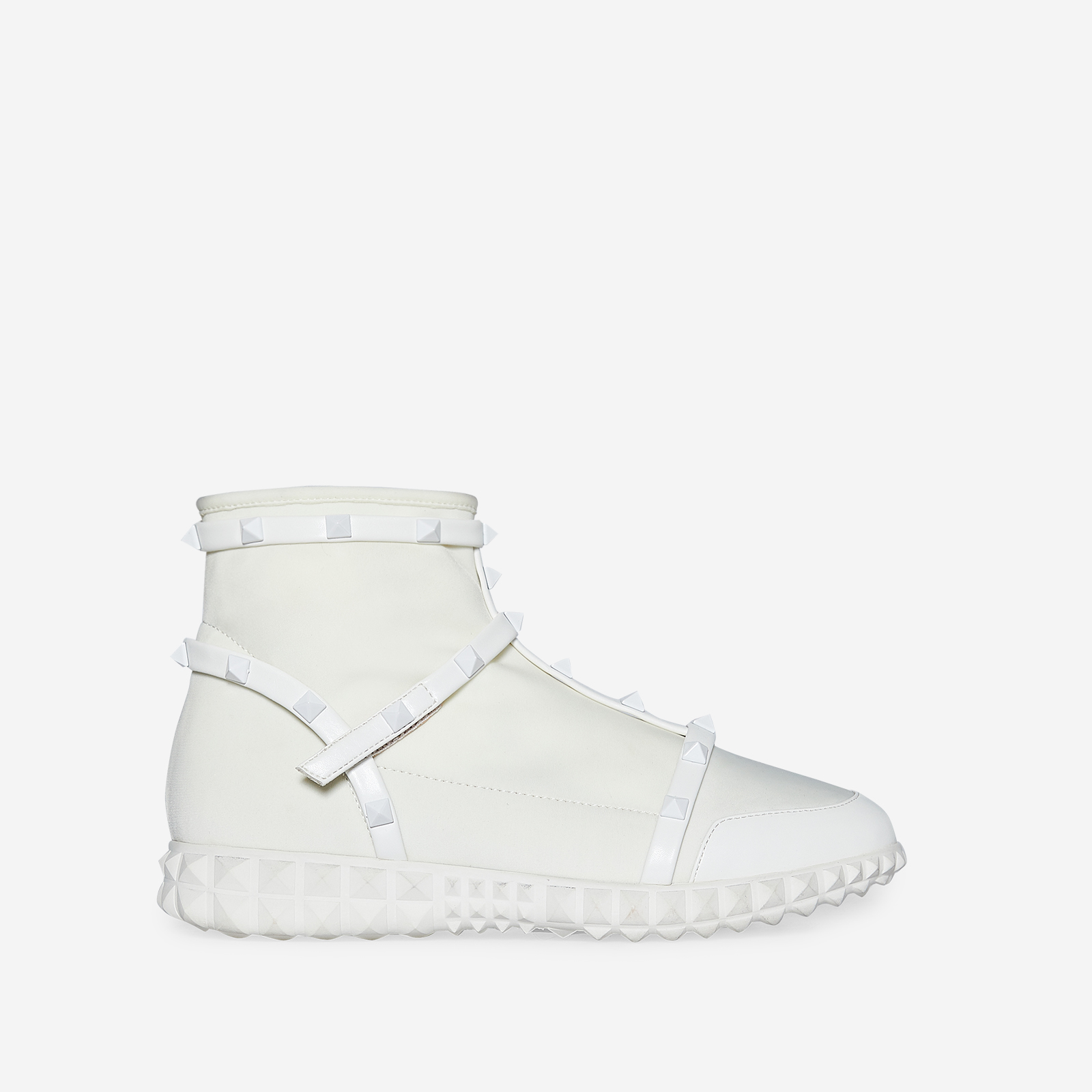 Rocha Studded Detail Trainer In White Knit