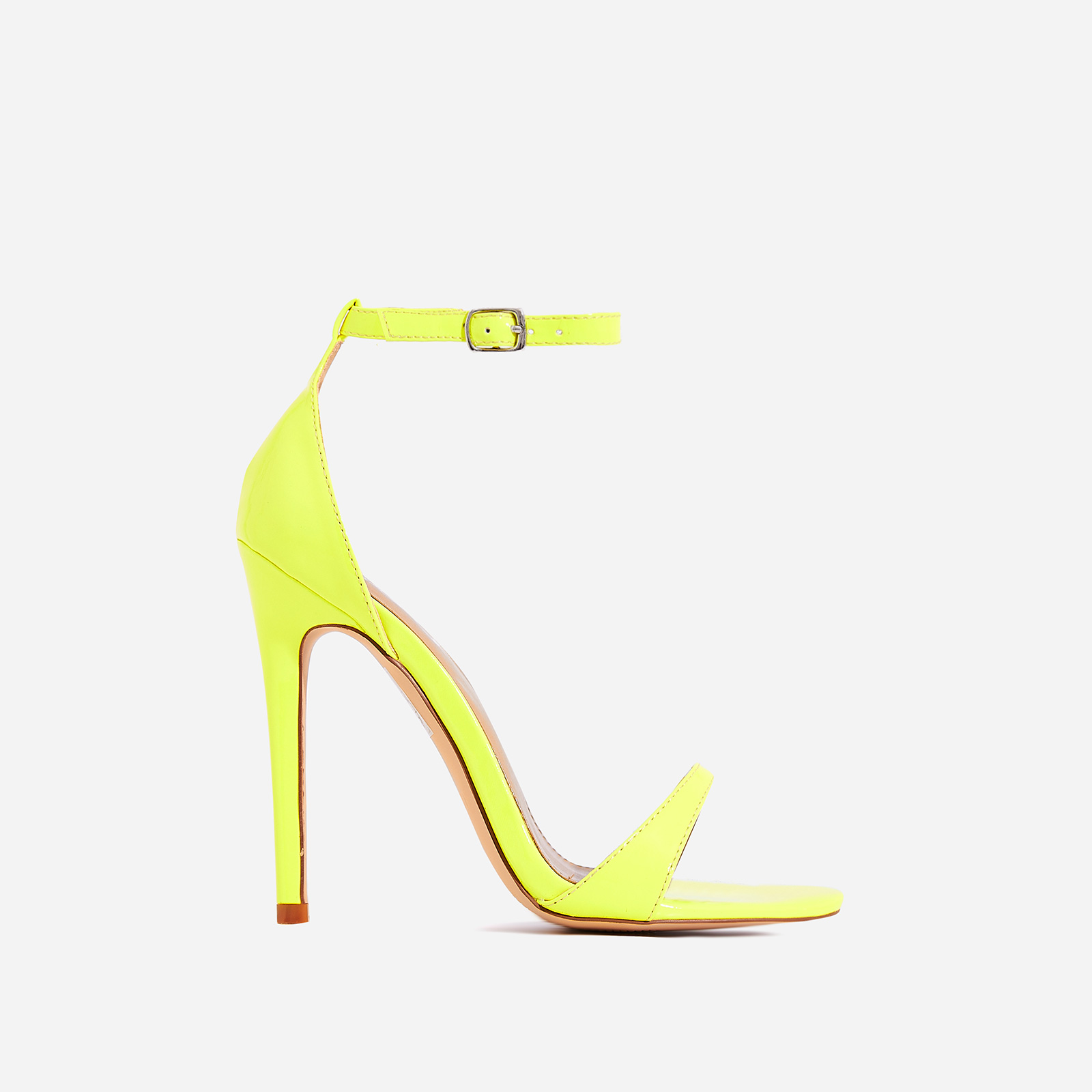 Archer Barely There Heel In Neon Yellow Patent