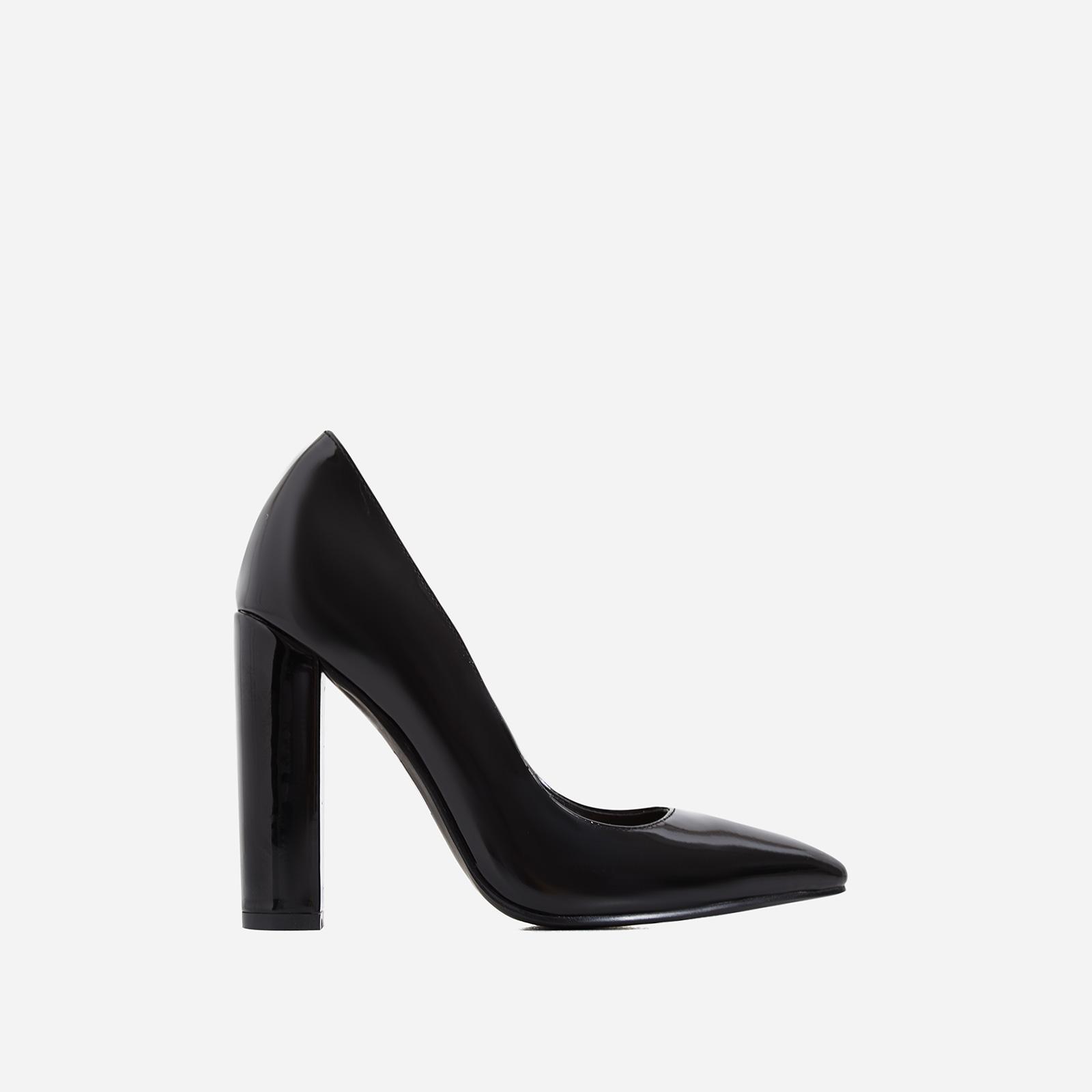 a141b2e207bf Bobbi Block Court Heel In Black Patent