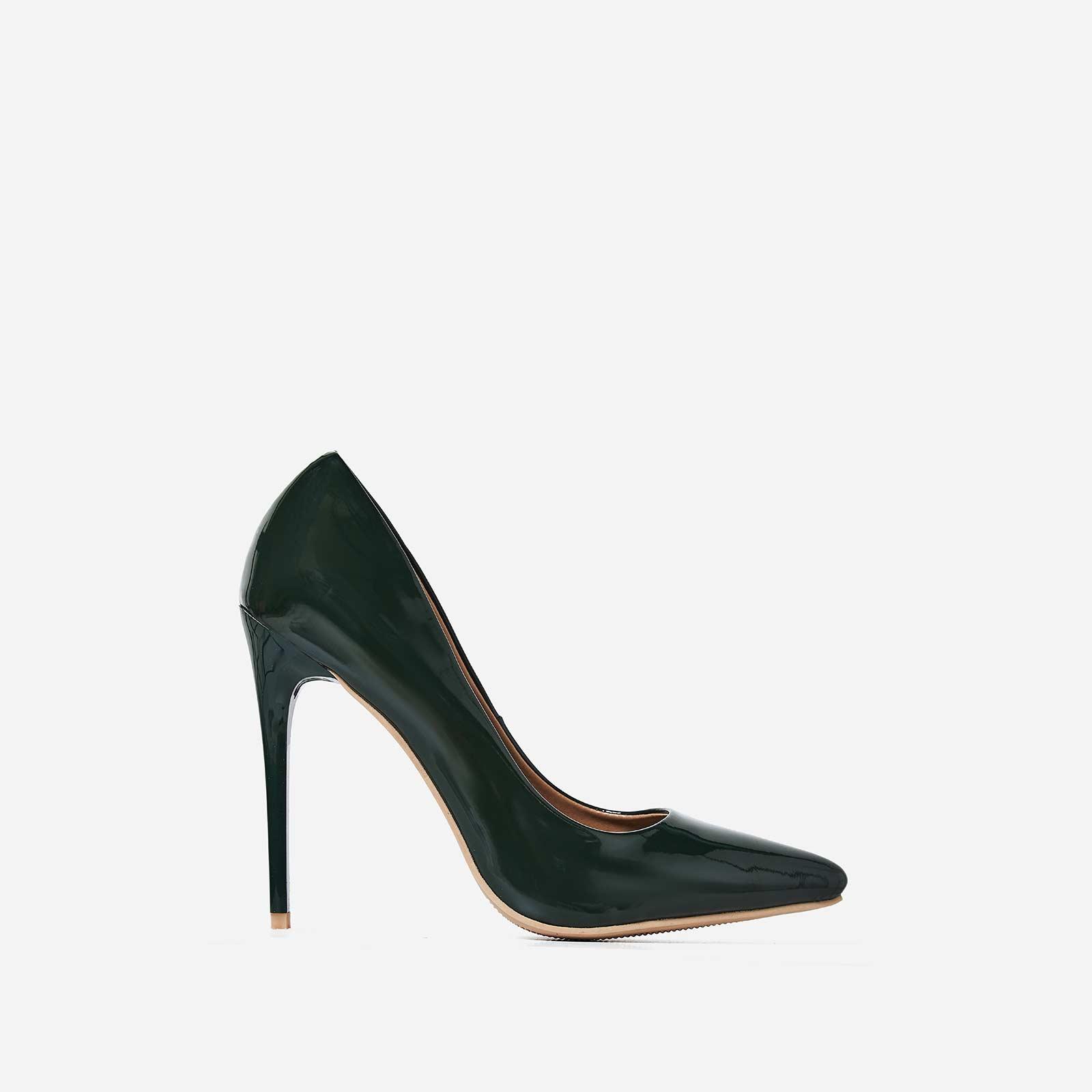 Bronte Court Heel In Green Patent