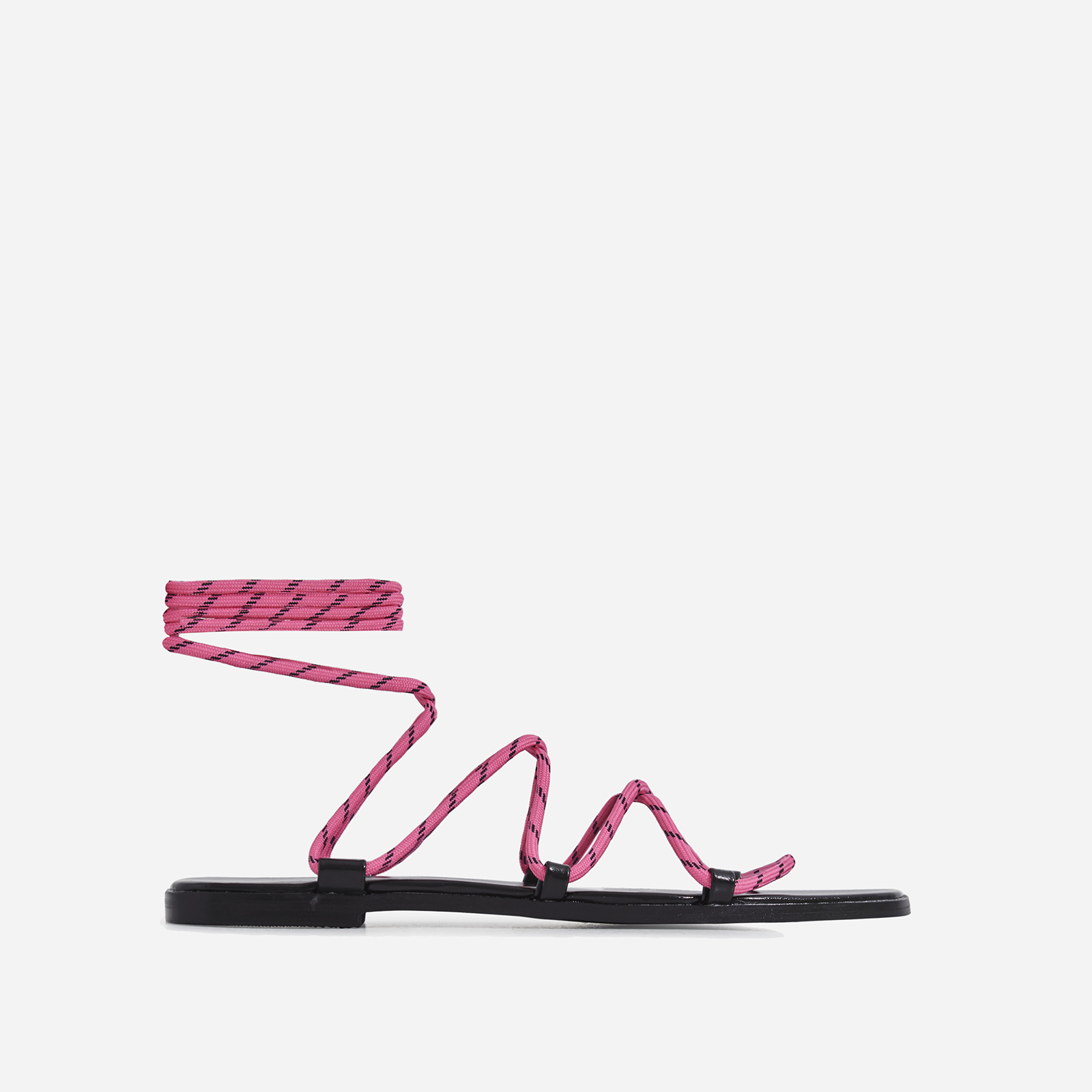 Felix Lace Up Sandal In Pink