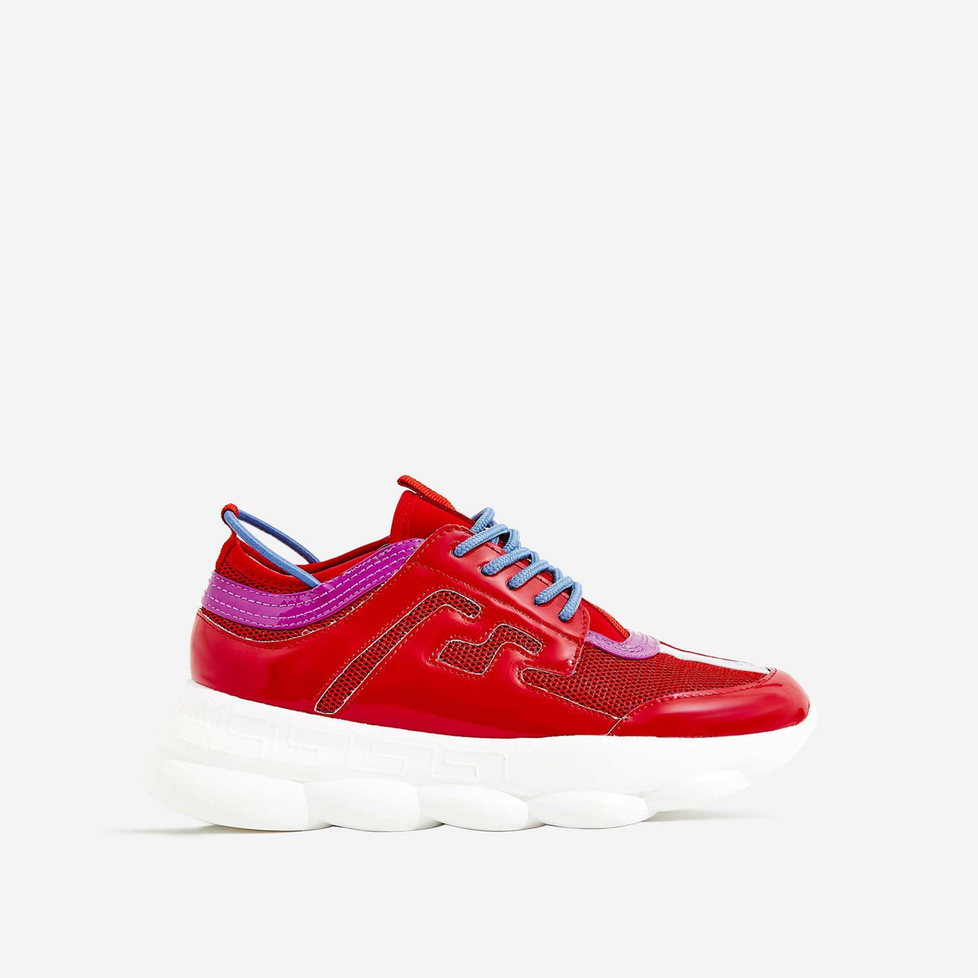 Athena Chunky Sole Trainer In Red