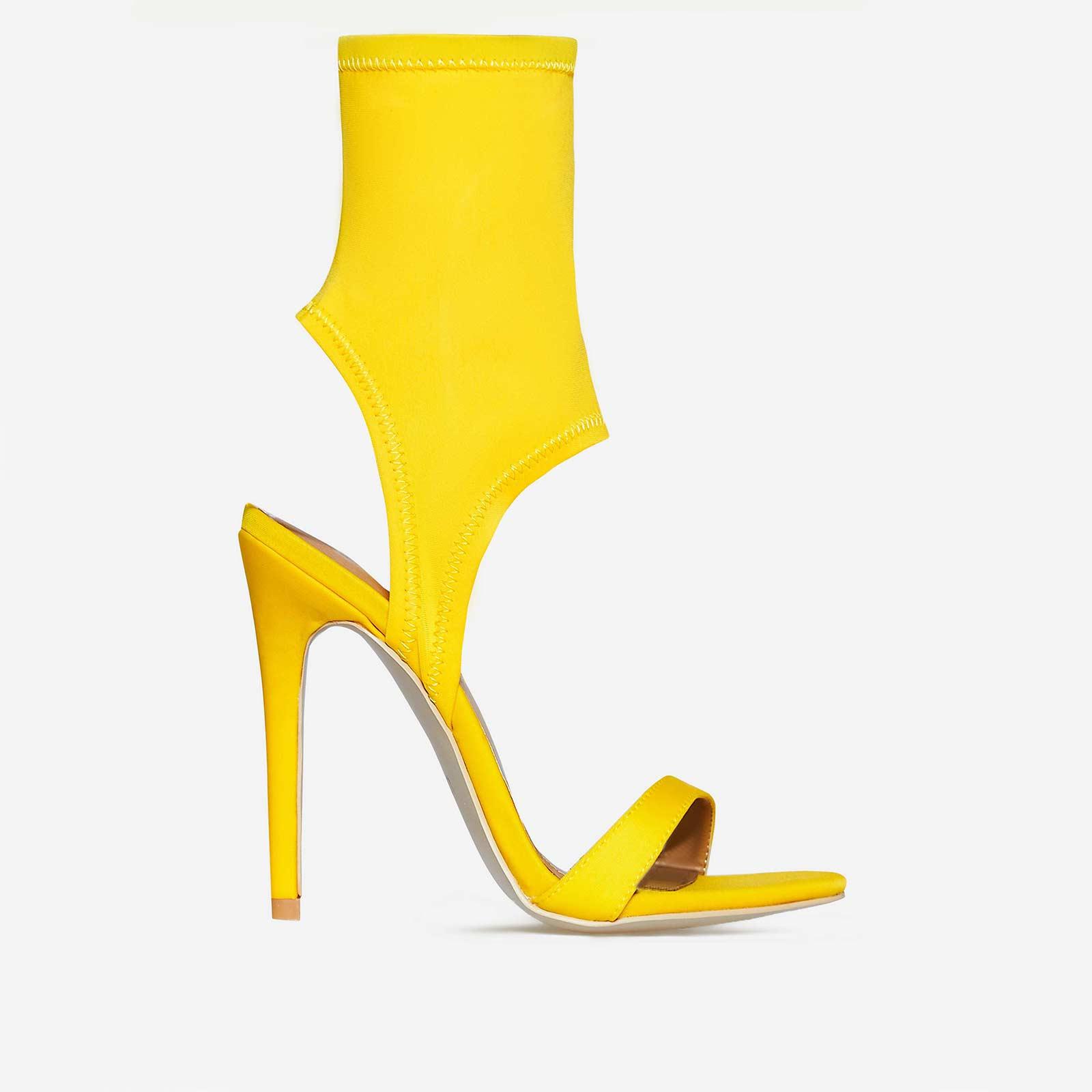 Glenn Cuff Heel In Yellow Lycra