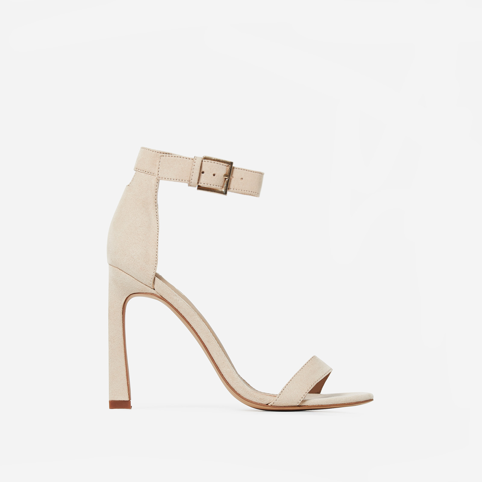 Melrose  Barely There Flared Stiletto Heel in Nude