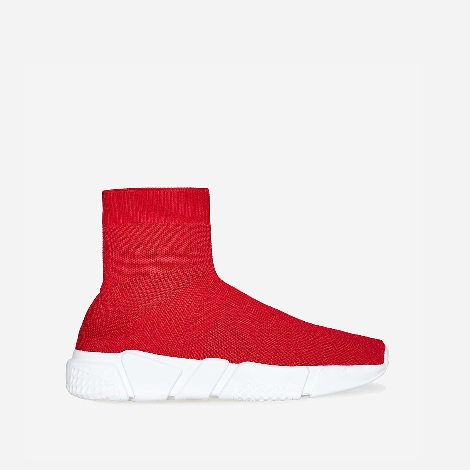 Mercury Ankle Trainer In Red Knit