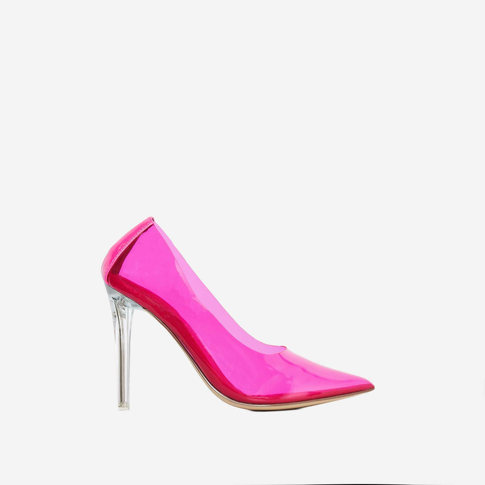 Nuclear Perspex Court Heel In Pink