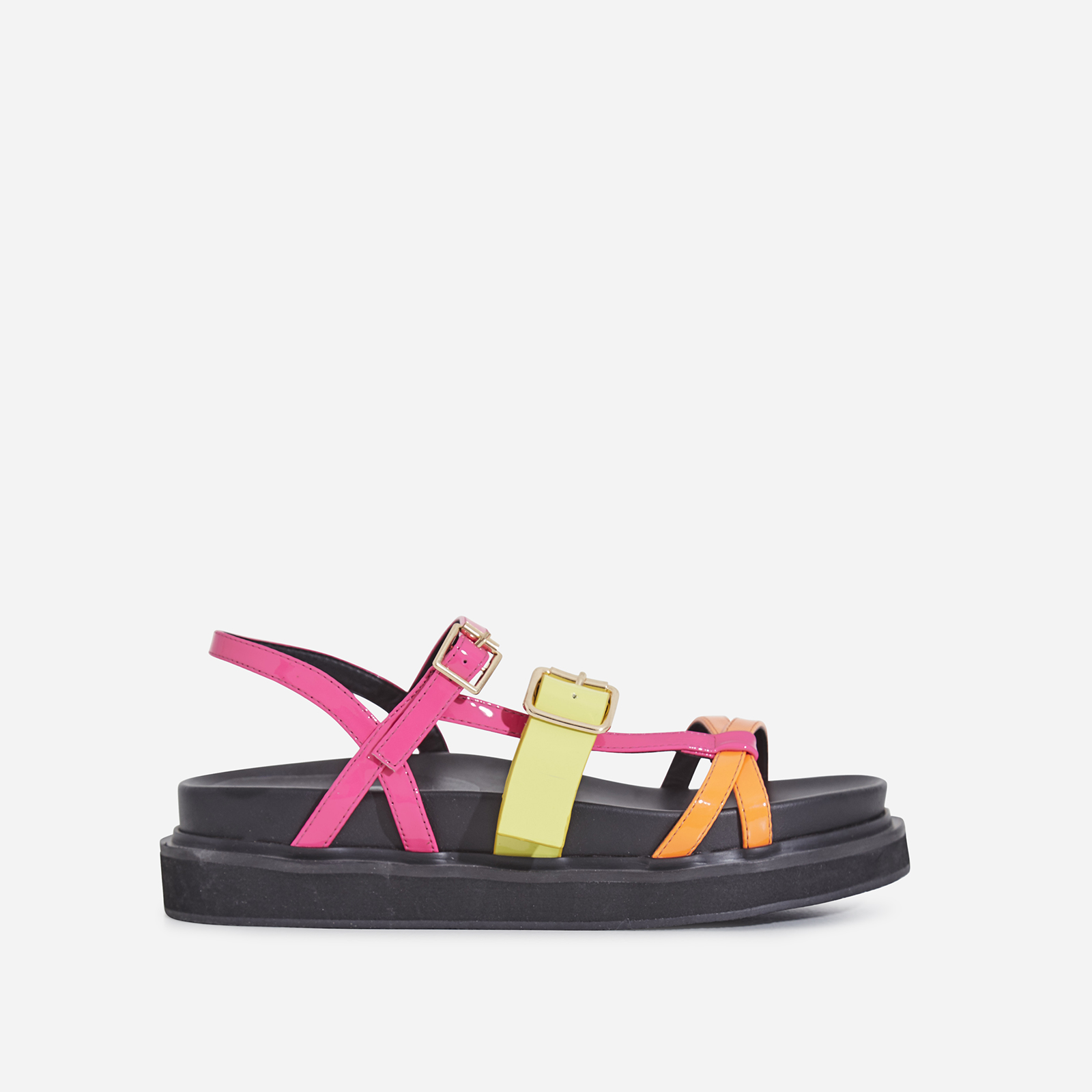 Andro Chunky Sole Sandal In Neon