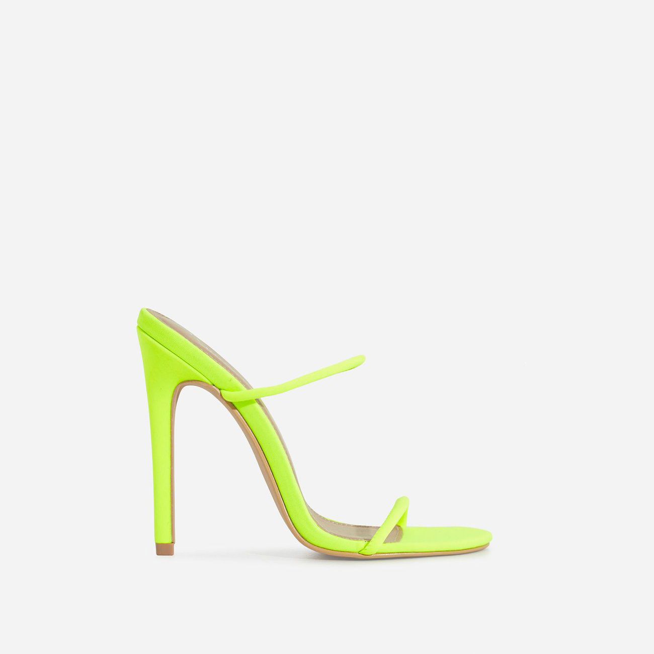 Helix Barely There Mule In Lime Green Lycra