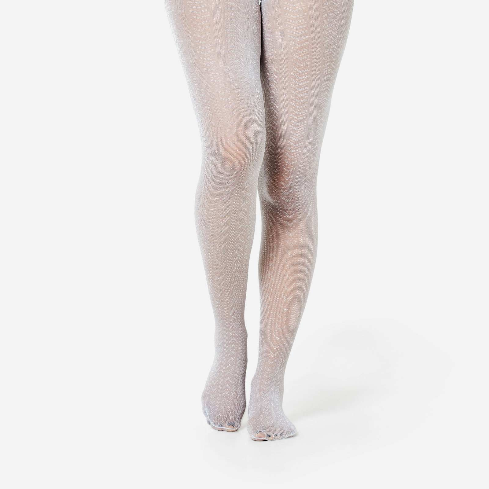 Glitter Tights In Grey