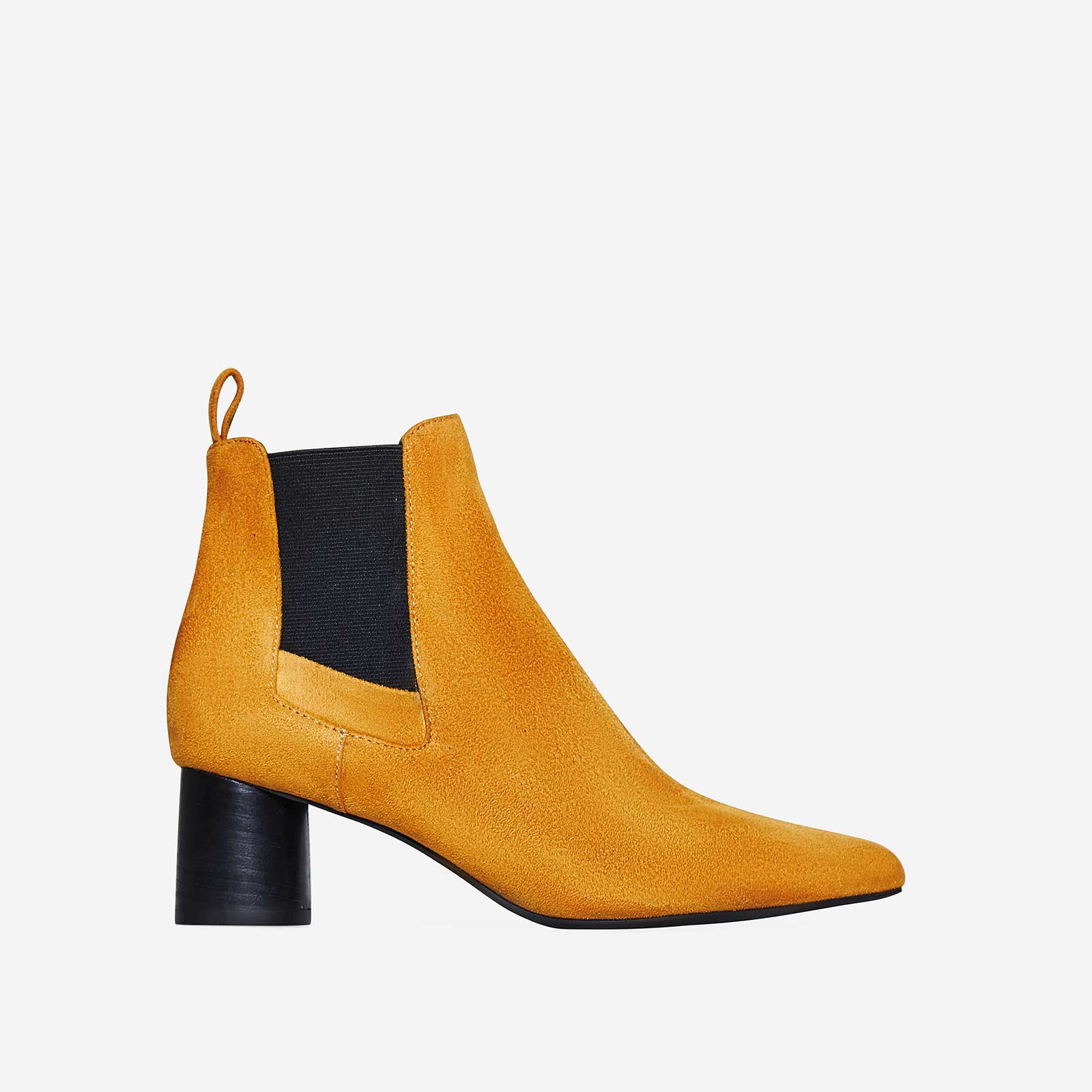 Toni Chelsea Boot In Mustard Faux Suede