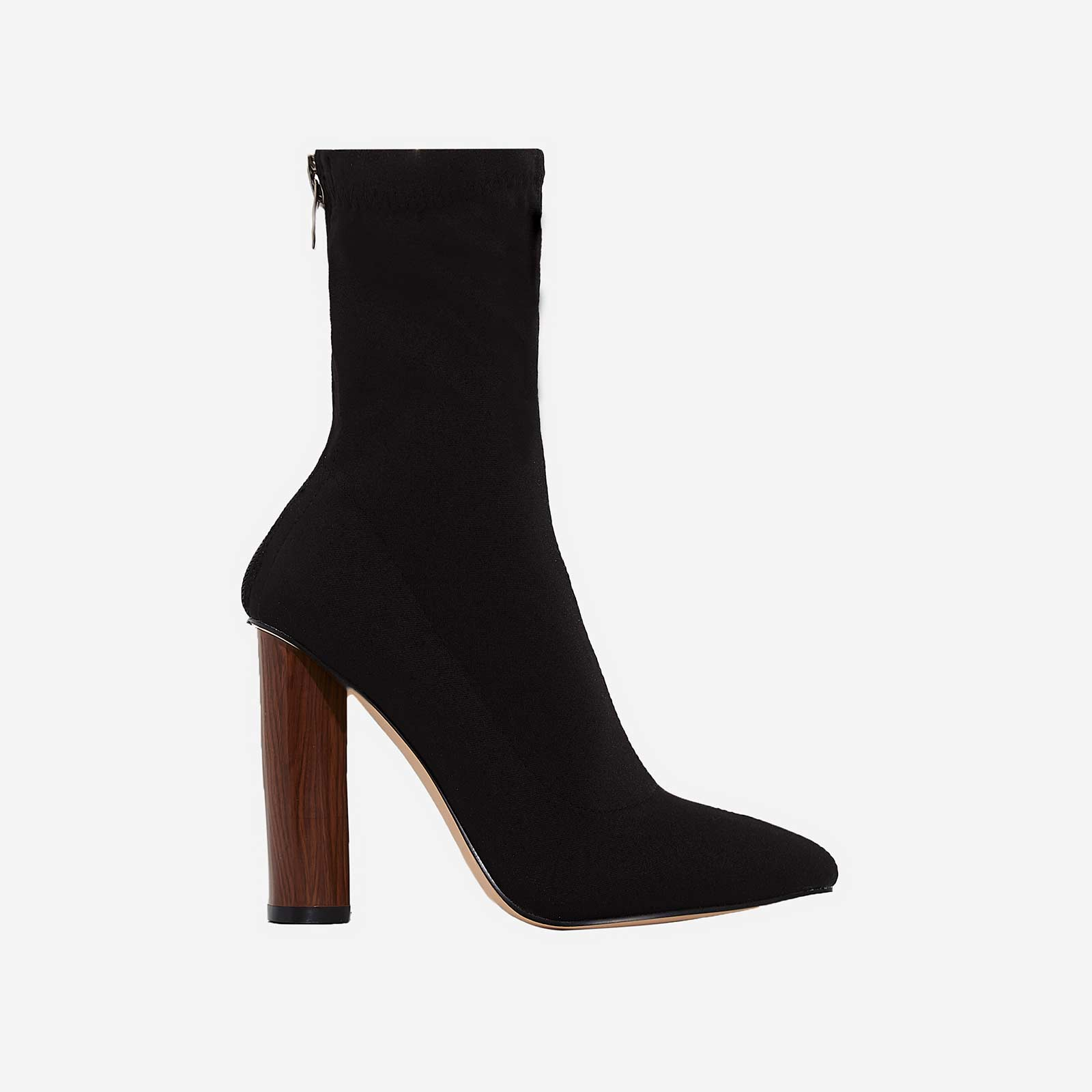 Zina Black High Ankle Boot In Lycra Image 1