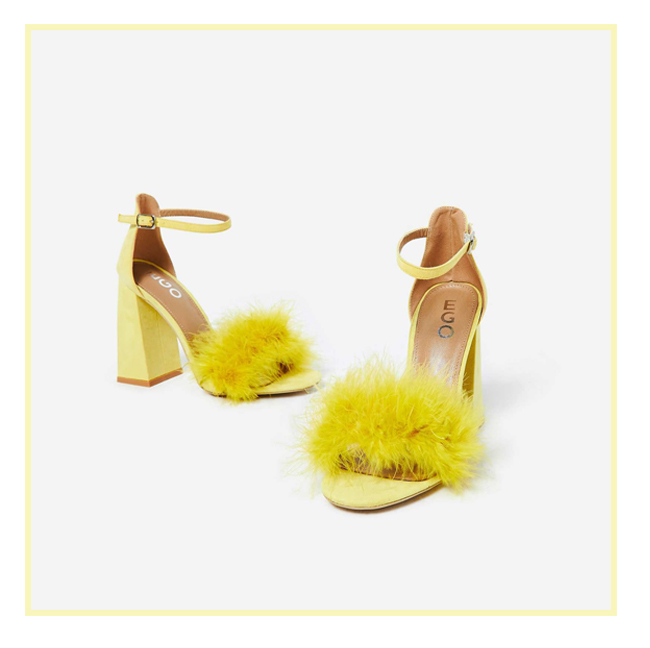 1aa73b0222 Block heels are a staple for comfort, but they don't have to be boring!  Spruce up your prom shoes with a little bit of faux fur, and yes, before  you ask ...